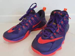 a43bb3a97f8 Nike Lebron XII Low Raptors Court Purple Bright Crimson. Mens Basketball  shoe - US Size ...