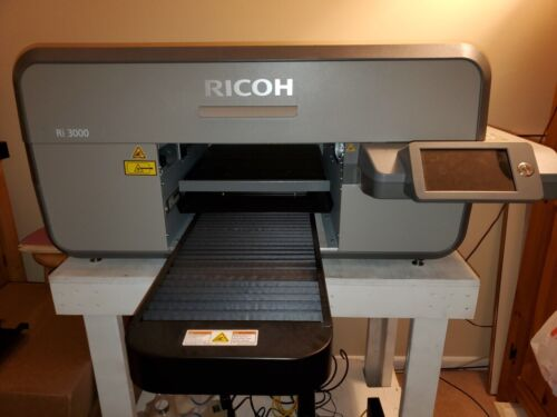 Lightly Used Ricoh Ri3000 Direct to Garment Printer (by Anajet)