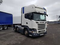 2015-64 plate scania srs class topliner 520 v8 6x2 midlift retarde opticruise...