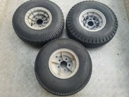 ALLOY BOAT TRAILER WHEELS AND TYRES 5 STUD 5x108 PCD 3 OF