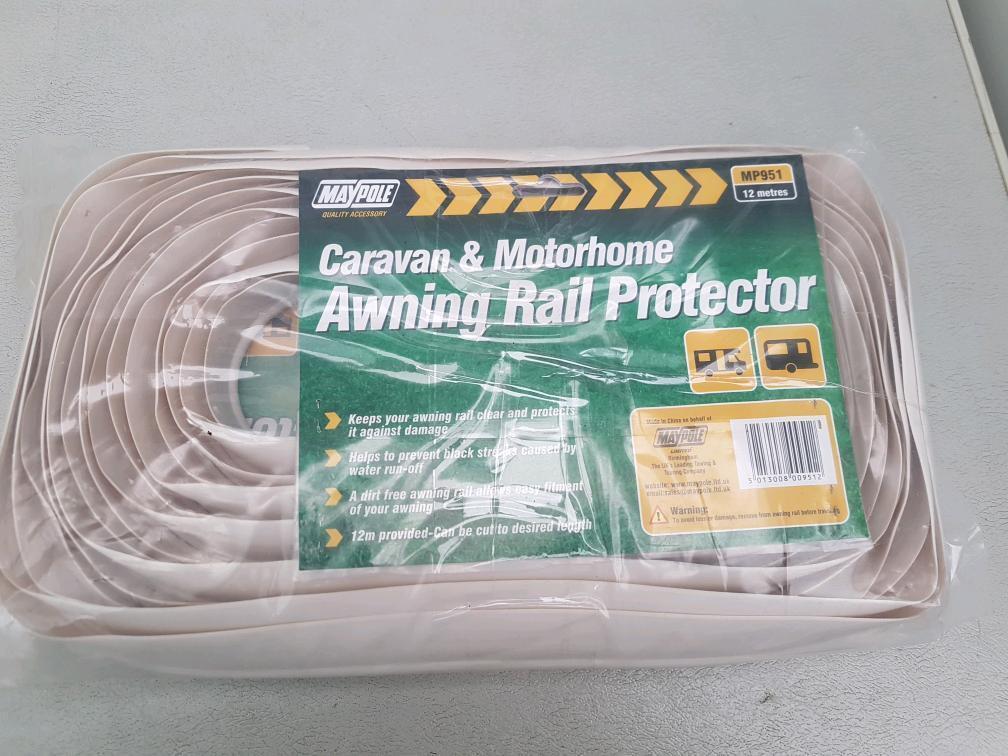 Caravan & motorhome awning rail protector