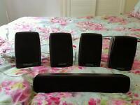 Samsung 5 x surround sound speakers and sub woofer