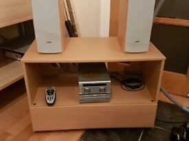 Video/audio cabinet.