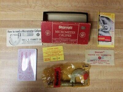 Starrett 230rl 1 Inch Micrometer Caliper