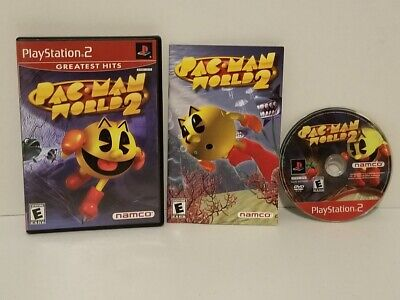 Pac-Man World 2 (Sony PlayStation 2, 2002) Complete FREE SHIPPING
