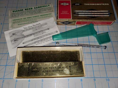 Vintage Eco Eisele & Company Thermometer-Box & Paperwork