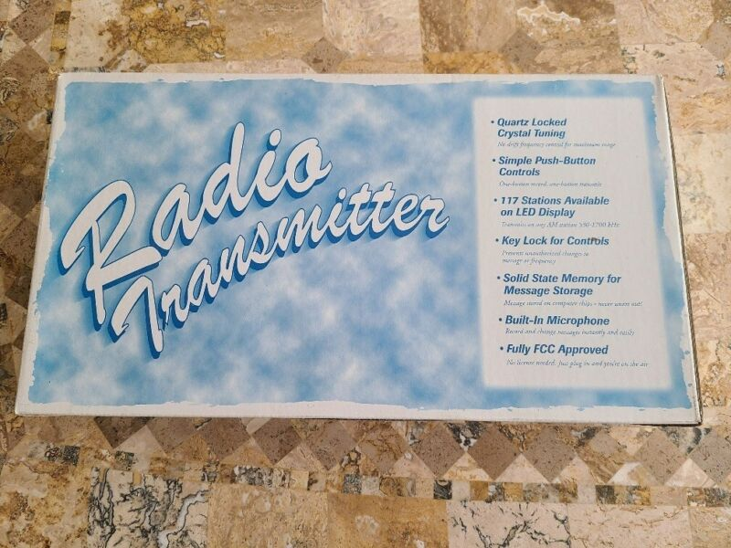 Talking House Radio Transmitter- NEW IN BOX, FREE SHIPPING! Four (4) available!