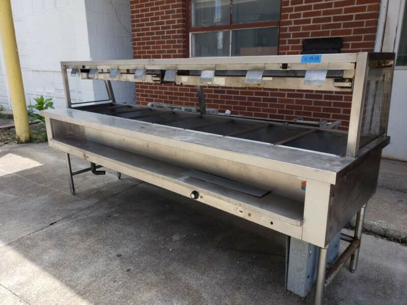 Emerald 8-Pan Open Well electric steam table