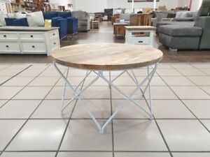 DOMINIQUE ROUND COFFEE TABLE MANGO WOOD Morningside Brisbane South East Preview