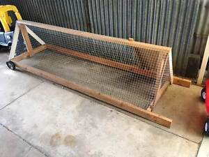 Rabbit Hutch Guinea Pig Cage Ferret Rat Run 3m and on wheels Ethelton Port Adelaide Area Preview