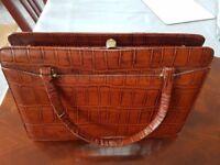 Vintage (Hermes style) Alligator skin handbag