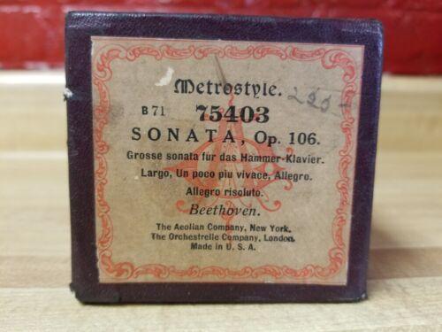Metrostyle 75403 Sonata, Op. 106 - Beethoven Allegro Risoluto Player Piano Roll