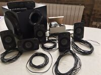 Logitech Z906 5.1 Surround Sound Speakers + Speaker brackets wall