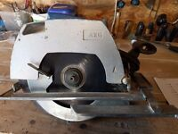 AEG 240 volt circular saw in very good working order including spare blade