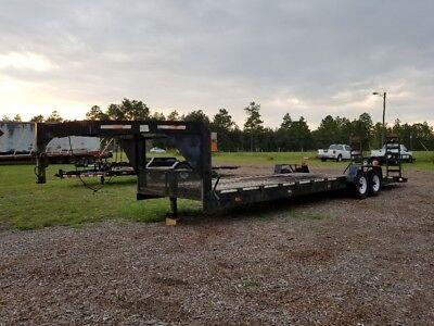Used Gooseneck Equipment Trailer 31 Ft. Deck W 5 Ft. Ramps 7x36 Tandem Axle