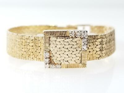 Gold-Diamond Bracelet 10 Diamonds .30 Carat T.W. 14K Yellow Gold 22g (AM1058005)
