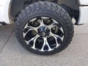 Deep Dish Fuel Rims and tires 33/12.5/R20