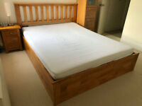 Ottoman King Bed. Great opportunity. Solid wooden with lots of storage