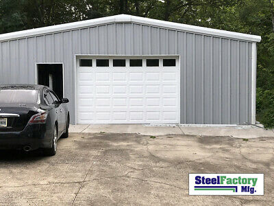 Steel Factory Mfg Prefab 24x30x10 Beam Frame Garage Building Low Cost Diy Kit