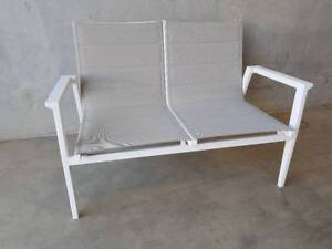 Bahamas 2 Seater in Latte Textiline with Quick Dry Foam Support Loganholme Logan Area Preview