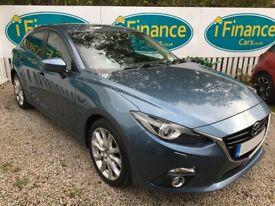 image for CAN'T GET CREDIT? CALL US! Mazda 3 2.0 SKYACTIV-G Sport Nav, 2015 - £200 DEPOSIT, £62 PER WEEK