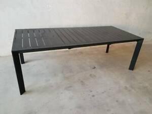 Morocco Extension Dining Table In Black Aluminium Loganholme Logan Area Preview