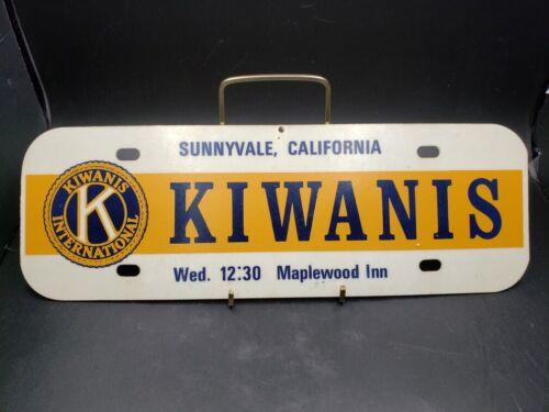 Vintage Hard Plastic Kiwanis Club Sign Meeting Sunnyvale California