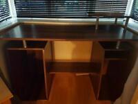 Dark wood desk great condition