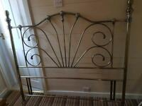 Antique brass kingsize headboard in excellent condition