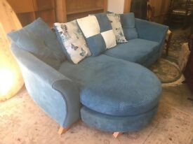 Pillow back chaise style sofa