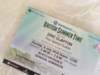 Eric Clapton at BST Festival July 8th Tickets x2 - Featuring Santana Gary Clark Jr and Steve Winwood