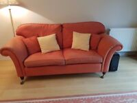 Laura Ashley 'Mortimer' Sofas x 2 in Burnt Sienna (Red)