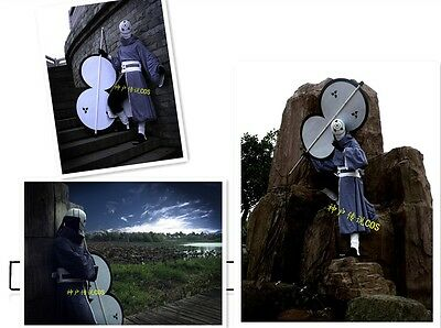 NARUTO Akatsuki Ninja Tobi Obito Madara Uchiha Cosplay Helmet Costume Full - Obito Uchiha Kostüm