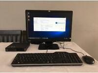 "Lenovo IBM ThinkCentre i3 AIO PC WIFI desktop computer 19"" Widescreen Monitor Windows 10 Mini Tiny"
