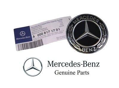 Genuine Mercedes Benz Hood Flat Laurel Wreath Badge Emblem