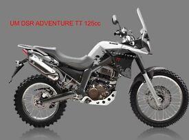 *Brand New 2017 * UM DSR ADVENTURE TT 125cc . Warranty. Free Local delivery. Main dealer: 23-05