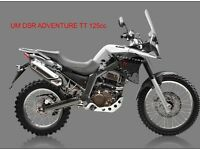 *Brand New 2017 * ​UM DSR ADVENTURE TT 125cc . Warranty. Free Local delivery. Main dealer: 23-05