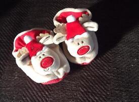 Baby's reindeer slippers