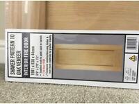 Shaker pattern 10 oak veneer Fire Door
