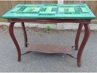 antique art nouveau tile top coffee table