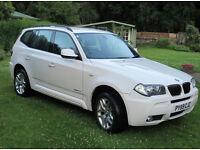2009 BMW X3 2.0D M-SPORT XDRIVE WHITE MANUAL 87500 MILES