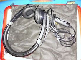Jabra UC Voice 550 Duo Wired Stereo Headset - Over-the-head - Semi-open - Black