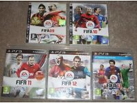 PS3 Playstation Games Bundle - Football x 5 FIFA - ONLY £5