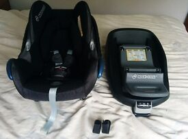 Maxi Cosi CabrioFix Baby Car Seat With EasyFix isofix base & Adapters
