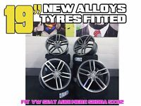 """19"""" STYLED ALLOYS WHEELS TYRES AUDI SEAT VW SKODA FITTED S LINE A7 S7 RS7 A8 S8 Q3 SQ3 Q5 SQ5"""