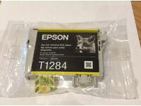 Epson Yellow T1284 Original New Ink Cartridge with Fox Logo