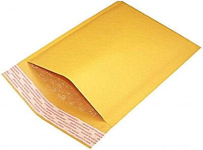 100pcs 000 4x7 Kraft Bubble Padded Envelope Shipping Mailer Seal Bag