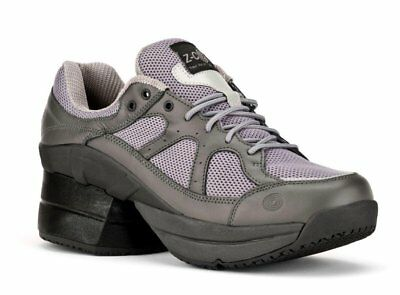Z-Coil LIBERTY GREY Covered WOMENS FW-K1404-W Comfort Wide Orthotic Shoes Zcoil~