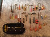 Stanley tool bag full with tools