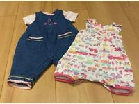Baby girl romper suits size first size/newborn